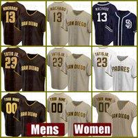 2021 San New Diego Baseball Jersey 사용자 정의 Padres 23 Fernando Tatis Jr. Mens 13 Manny Machado 여성 19 Tony Gwynn 11 Ryan Schimpf 555