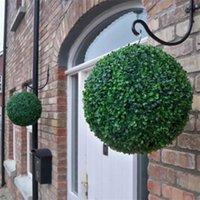 Nouveaux balles de topiaires d'herbe artificielle de 12 à 40 cm / boule de suspension intérieure pour la fête de mariage DIY Hotel Home Yard Jardin Décoration 531 V2