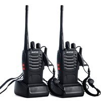 Walkie Talkie 2pcs lot BF-888S UHF Two Way Radio Baofeng 888s 400-470MHz 16CH Portable Transceiver With X6HA