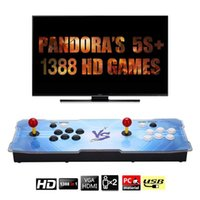 Portable Game Players Pandoras Box 6S Upgraded Home Edition Street Arcade 1388 In One Boxing King With Two Rocker Machine