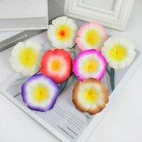 Dekorative Blumen Kränze 10 stücke 7,5 cm Plumeria Schaum Frangipani Künstliche Blume Kopf Für Sommer Hawaiian Party Decor DIY Hochzeit Kranz