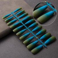 Faux Nails Dingxue 20 / PCS Coffre Colorful Bouffons détachables pour extension Art Manucure Art Presse sur Fake G018