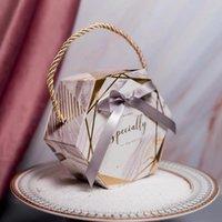 Boîte à bonbons de mariage de 30 pcs avec des sacs d'emballage au chocolat de ruban Souffe d'anniversaire fête d'anniversaire de Noël Baby Douche Faveurs Wrap cadeau