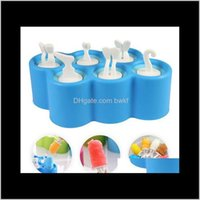 Kitchen Tools Kitchen, Dining Bar Home & Gardeneco-Friendly Creative Sile Mini Pops Mold Ice Ball Lolly Maker Popsicle Molds With 9 Stickers