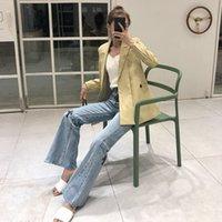 Chrome trend Hearts High Crosin Quality Leather Cross Jeans Women's High Waist Wide Leg Flared PantsHGS0