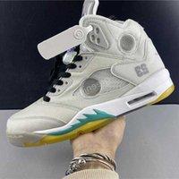 Jumpman 5 5 S OG Yelken Kremi Muslin Basketbol Ayakkabı 3 M Metalik Beyaz Siyah Yeşil Yansıtıcı Erkek Açık Spor Eğitmenler Tasarımcı Sneakers