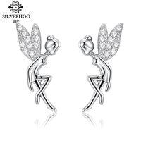 Bamoer romântico genuíno 925 esterlina prata fada bonito séu requintado brincos para as mulheres jóias de luxo fazendo BSE046 1073 T2