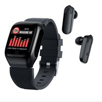 S300 Smart Watch Men Earbuds With Earphones Music BT 5.0 Wireless Touch Control Heart Rate Run for Android for iOS 1pcs