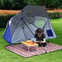 Tendas e abrigos ao ar livre Camping Pesca Caminhada Guarda-chuva Portátil Sun Shelter Beach Barraca de Verão Fácil Configuração Torvendo Sombra Canopy Anti-UV HW1