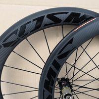 Bob Twill Weave Mavic Cosmic 700c 60mm Profondeur Vélo Vélo de carbone 25mm Largeur Largeur CLINCHER WheelSet de carbone avec hub A271 navire gratuit