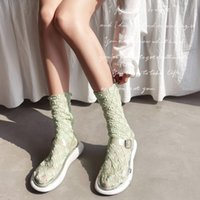 Socks & Hosiery 1pair Sexy Lace Women Transparent Mesh Ankle Ladies Ultra-Thin Princess Tulle Female Meias