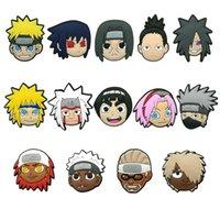 100 teile / los Anime Comic Sasuke Weiche PVC Schuh Charms Jibtz Für Clag Babe Zubehör Cartoon Schuhe Ornamente Dekorationen als Werbegeschenk