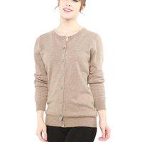 Longming 100% Merino шерсть женщин кардиган свитер осень зима теплый мягкий вязаный Femme Cashmere 210805