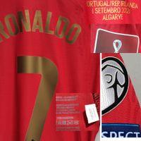 American College Football Wear 2021 Match Worn Playe Problema Ronaldo Maillot Jersey Pepe Bernardo Fernandes com 111 Goals Records MatchDetails Camisa de esportes