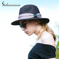 Sedancasesa Marca 2021 Vistos de Verão Tampão Chapéu de Sol Beach Chapéus para Mulheres Casual Palha Meninas Caps Sombreros Ampla Brim