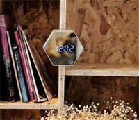 ترقية مرآة الأزياء و LED المنبه التحكم باللمس LED أضواء الليل عرض الساعات الإلكترونية سطح المكتب الرقمية الساعات الغرور 199 V2