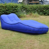 Outdoor Pads Self-inflated Camping Lounger Sofa Bed S-shaped Recliner Sleeping Air Mattress Inflatable Camp Beanbag Picnic Beach Couch Chair