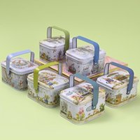 Vintage Small Suitcase Storage Tin Cookie Chocolate Party Supplies Candy Box Gift Earphones For Wrap