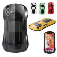 세련된 슈퍼 자동차 슬림 Shockproof 소프트 TPU 아이폰 12 11 Pro Max Mini XR XS X 8 7 Plus SE2 멋진 고무 젤 렌즈 보호 커버