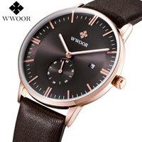 Armbanduhren Lederband Männer Uhren 2021 Wwoor Luxus Top Marke Sport Kalender Uhr Wasserdichte Leuchtstoffquarke Uhr Relogio Masculino