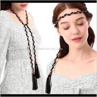 Bohemia Moda Vintage Tassel Handwoven Tassel Diadens Rope Doble Uso Cinturón S1026 HHWGR Belts DHSIX