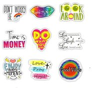 50 PCS Motivational Phrases Stickers Inspirational Quotes Sticker for Kids Notebook Stationery Study Room Scrapbooking Fridge Decals EWA5499