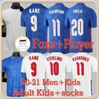 Vista de Jogador de Ventilador Versão Sancho Kane Reino Unido Jersey 2022 Sterling Rashford Henderson Barkley Maguire National Football Shirts Homens + Kids Kit Sets uniformes