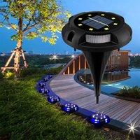 Lampade solari Luci di terra che cambiano Auto Modifica automatica 12 LED Impermeabile In-Terra Paesaggio Paesaggio Illuminazione per il prato Patio Patè Pathway Deck Sweat Passerelle Luce di inondazione