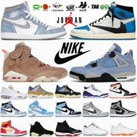 Mens Basketball Shoes 4 4s Black Cat White Oreo Desert Moss Jumpman 1 1s University Blue Dark Mocha Hyper Royal 6 6s UNC Electric Green 11 11S Womens Sneakers Trainers