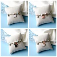 Charm Bracelets Ceramics White Pink Black Cat For Girls Teens Kids Woven Beaded Kitty Bracelt Boho Pet Jewlery Gift Children