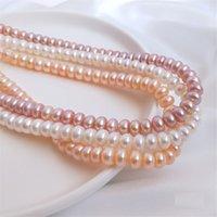 """4-10mm Real Natural Pearls perline perline perla d'acqua dolce perle allentati per allentatori per bracciale artigianale fai da te gioielli gioielli per la creazione di 14 """"filo"""