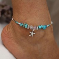 Bohemia Summer Starfish Beads Anklet Beach Chain Bracelet Ankle Jewelry for Women Girls