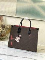 OnThego M45888 الحب حقيبة urs فيشر تغيير الكلاسيكية x monograms totes النساء luxurys مصممي السيدات حمل أكياس التسوق حقيبة يد إلكتروني زهرة محفظة محفظة على الذهاب
