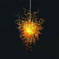Art Deco Pendant Lamps Hand Blown Glass Chandelier for Home Bedroom Restaurant Fixture Luxury Nordic Crystal Chandeliers Hanging Light