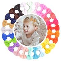 25pcs / lot Carino mini archi capelli con clip per neonate per capelli clip clip cravatta a nastro solido barrettes bambini per forcine per capelli accessori