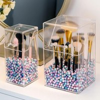 Eyebrow Tools & Stencils Makeup Brushes Organizer Storage Box Acrylic Cosmetic Make Up Clear Brush Holder Pen