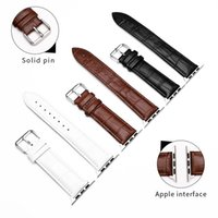 Applicable for Apple Watch calfskin iwatchSE 1 2 3 4 5 6th generation slub pattern leather pin buckle strap 38 44mm