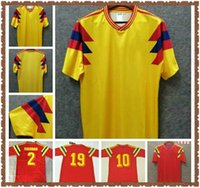 1990 Retro 10 Valderrama 9 Guerrero 2 Escobar Colo Colo Soccer Camicie Classic Commemorate Antique Football Calcio Camiseta