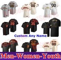 San Francisco 2021 Giants Buster Posey Baseball Jerseys Brandon Crawford Kevin Pilar Yastrzemski Longoria Cinto Jersey Homens Juventude Kids