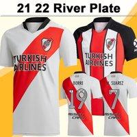 21 22 River Assiette Jersey Jersey J. Alvarez Borre Pratto Pinola Ponzio Perez Accueil Blanc 3rd Chemise de football Noire Sleeve courte