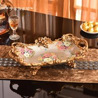 Ice Buckets And Coolers European Luxury Fruit Dish Bowl Tea Center Plate With A Handle Dry Decorated Living Room Coffee Table