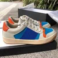 Discount Luxus Designer Marke Herren Frauen Screener Leder Sneaker Mode Casual Herren Kleid Schuhe Größe 35-44 Kostenloser DHL Versand