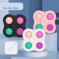 8/10/12 Tip de dedo Push Bubble Bubble Fidget Top Toys Press Comunicado Llavero Juguete Divertido juego Llavero Sensor Rompecabezas Juego G55NJQ
