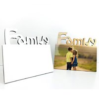 Sublimazione in legno Blank Photo Frame Tre Dimensional Hollow Lettera Famiglia Famiglia Cornice Casa Decorazione creativa Ornamenti CCF5705