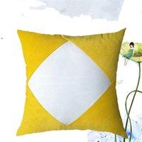 Sublimação Blanks Pillowcase Transferência de Calor Impressão Travesseiro Capas Branco Plano Pleuche Almofada Almofada Patchwork Plush Tallow Covers BWE8711