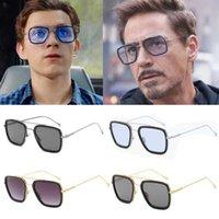 Aviator Солнцезащитные очки Железный Человек Очки Movie Superhero Peter Parker Косплей Эдит Тони Старка Солнцезащитные очки для мужчин