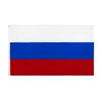 Rusya bayrağı büyük 3x5 ft ayak Rusya Federasyonu ulusal bayraklar afiş 90 * 150 cm polyester pirinç grommets ile ev bahçe duvar tekne dekor