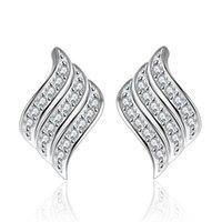 Nehzy 925 sterling zilver nieuwe vrouw mode-sieraden hoge kwaliteit zirkoon engelenvleugels vol met kristal super flash fashion oorbellen 1179 T2