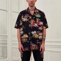 2021 Latest 19ss New Summer Style Hip-hop Hawaiian t Men Women Skateboard Tees Digital Direct Injectio Rhude Shirt 4 factory wholesale outlet