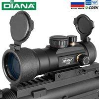 DIANA 3x42 verde punto rojo vista al alcance 2x40 rojo punto 3x44 óptica táctica riflescope ajuste 11/20 mm Rail 1x40 rifle vista para la caza